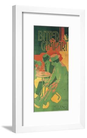 Bitter Campari Milano-Adolfo Hohenstein-Framed Art Print