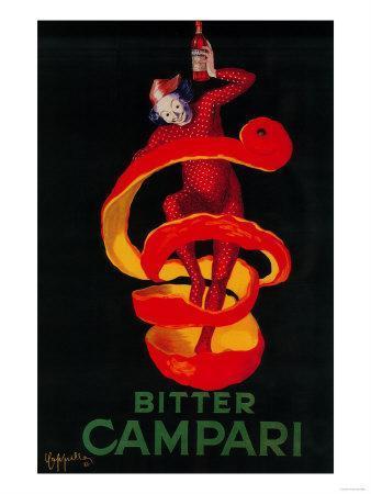 Bitter Campari Vintage Poster - Europe-Lantern Press-Art Print