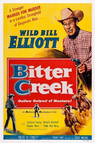 Bitter Creek, Bill Elliott, 1954--Art Print