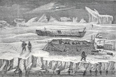 Bivouac in Boats, Pub. London 1874--Giclee Print