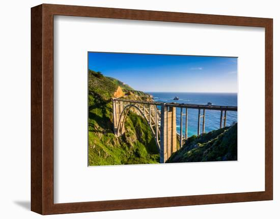 Bixby Creek Bridge, in Big Sur, California.-Jon Bilous-Framed Photographic Print