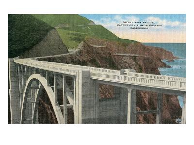 Bixby Creek Bridge, San Simeon Highway, California--Art Print