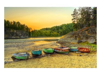 Biya River at Turochak Russia--Art Print