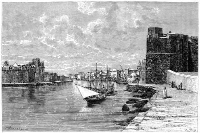 Bizerta, Viewed from the Kasbah, C1890-Bertrand-Giclee Print