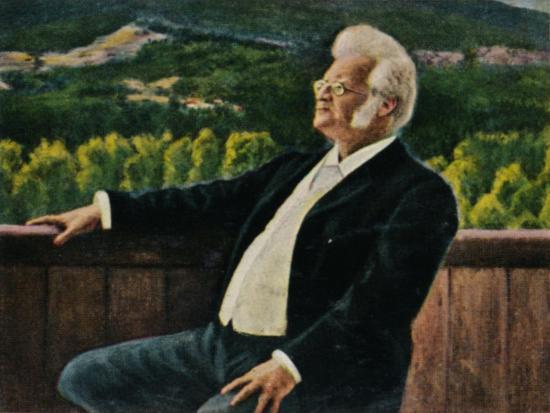 'Björnstjerne Björnson 1832-1910. - Gemälde von Erik Werenskiold', 1934-Unknown-Giclee Print