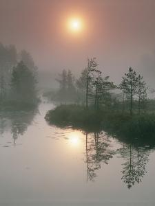 Sunrise Over a River by Bjorn Svensson