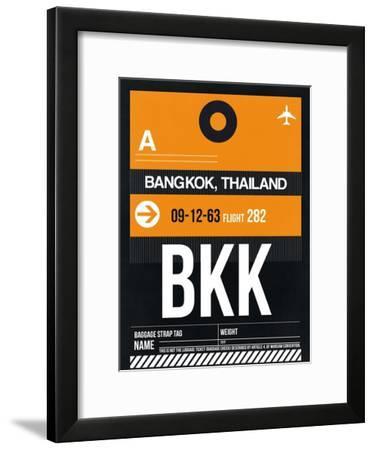 BKK Bangkok Luggage Tag I-NaxArt-Framed Art Print
