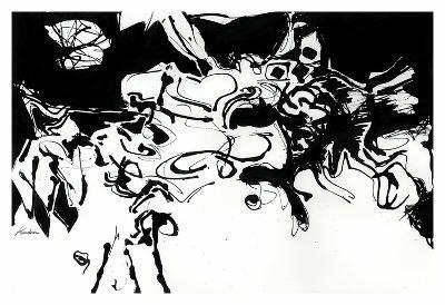 Black 3-Diane Lambin-Art Print