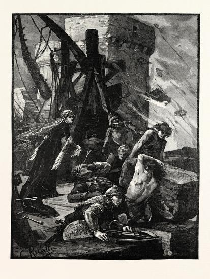Black Agnes at the Siege of Dunbar Castle--Giclee Print