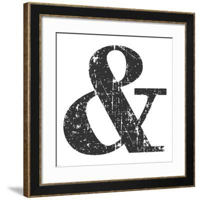Black Ampersand-Veruca Salt-Framed Art Print