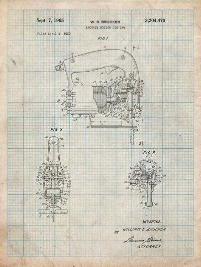 Black and Decker Jigsaw Patent-Cole Borders-Art Print