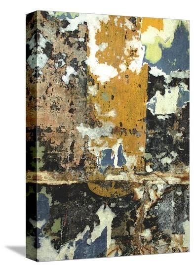 Black and Gold Layers-Jenny Kraft-Stretched Canvas Print