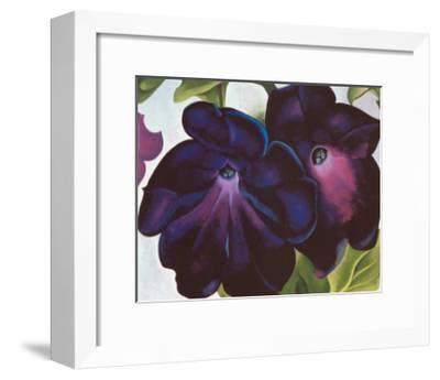 Black and Purple Petunia, 1925-Georgia O'Keeffe-Framed Art Print