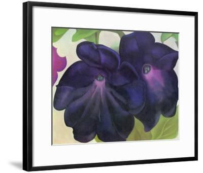 Black and Purple Petunias-Georgia O'Keeffe-Framed Art Print