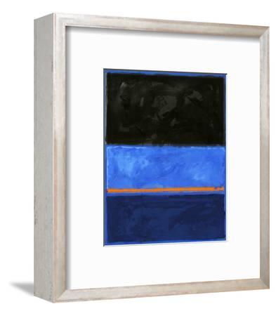 Black and Tangerine-Carmine Thorner-Framed Art Print