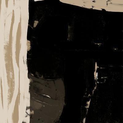 Black And Taupe Abstract 2-Kasi Minami-Art Print