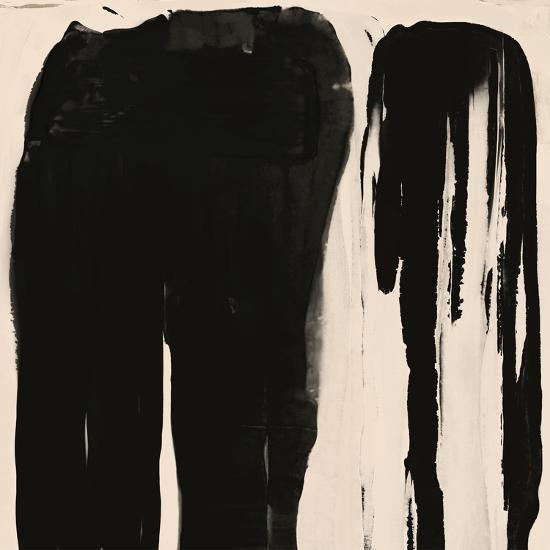 Black And Taupe Abstract 5-Kasi Minami-Art Print