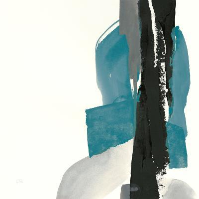 Black and Teal I-Chris Paschke-Art Print
