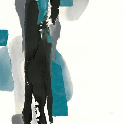 Black and Teal II-Chris Paschke-Art Print