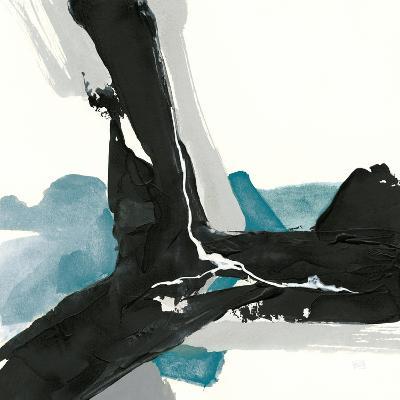 Black and Teal III-Chris Paschke-Art Print