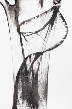Black And White Abstract Brush Painting-shooarts-Art Print