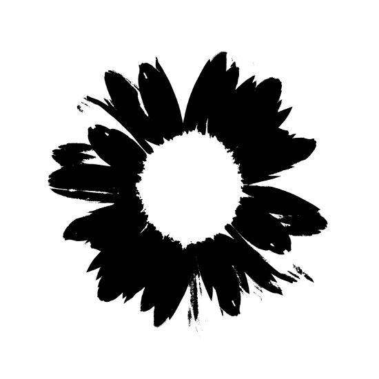 Black And White Abstract Daisy-Ruth Palmer-Art Print