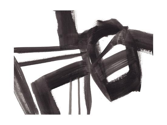 6844a41d2d7 Black and White Abstract Painting 1 Giclee Print by Jaime Derringer ...