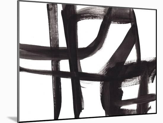 Black and White Abstract Painting 2-Jaime Derringer-Mounted Giclee Print