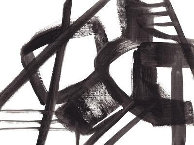 Black and White Abstract Painting 3-Jaime Derringer-Giclee Print