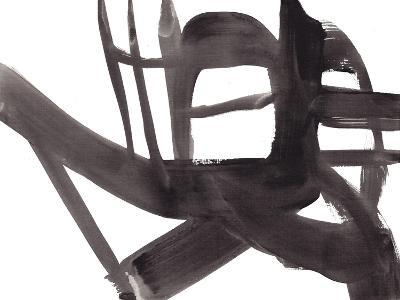 Black and White Abstract Painting 4-Jaime Derringer-Giclee Print
