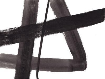 Black and White Abstract Painting 5-Jaime Derringer-Giclee Print