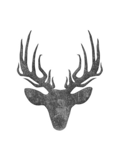 Black And White Aged Deer Mate Art Print by Jace Grey