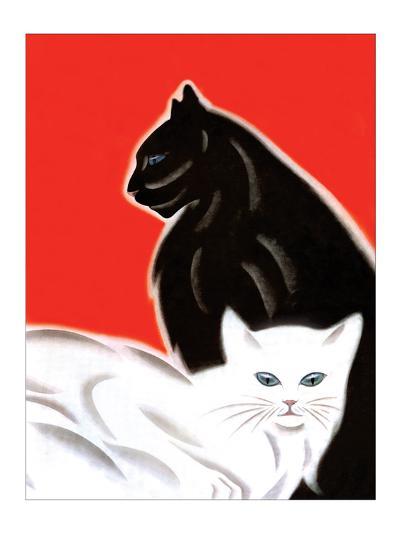 Black and White Cat-Frank Mcintosh-Art Print