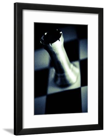 Black and White Chess I-Jean-François Dupuis-Framed Art Print