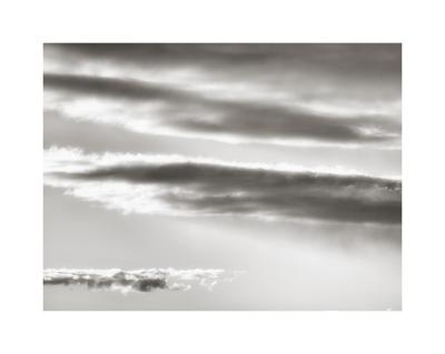 Black and white cloud formatio-Savanah Plank-Giclee Print