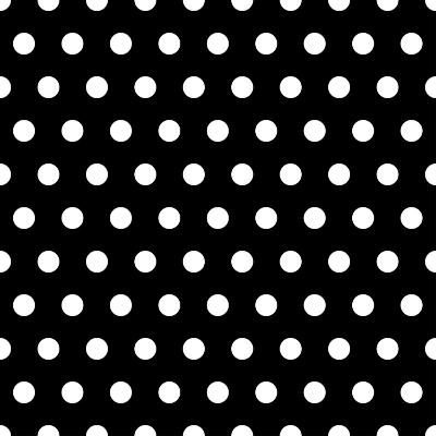 Black And White Dots Background- poofy-Art Print