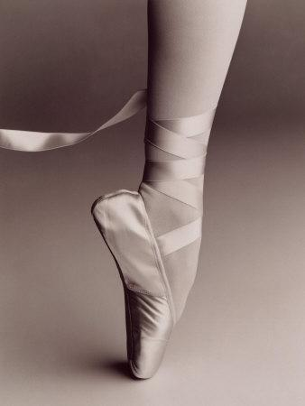 Black and White Image of Ballerina on Point-Howard Sokol-Premium Photographic Print