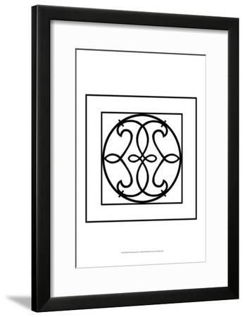 Black and White Ironwork V-Chariklia Zarris-Framed Art Print
