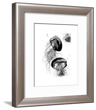 Black and White Jellyfish-Jessica Durrant-Framed Art Print