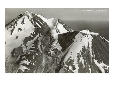 Black and White Mt. Shasta, California--Art Print