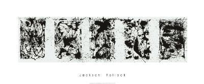 Black and White Polyptych-Jackson Pollock-Serigraph
