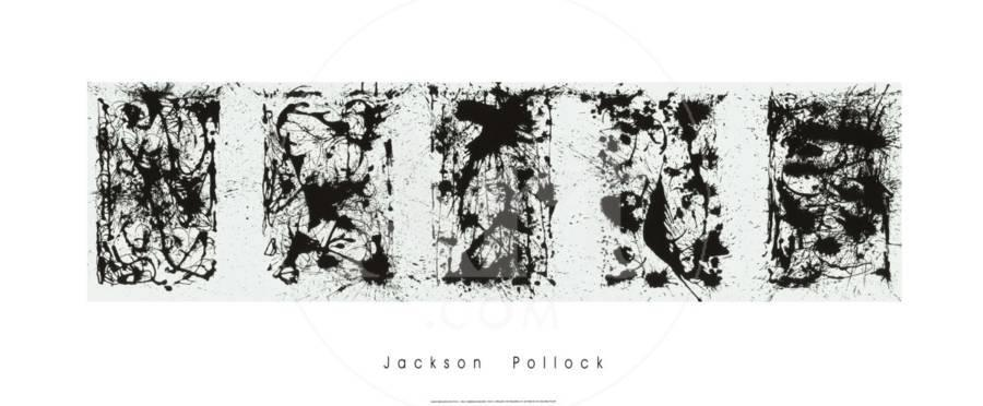 Black and white polyptych serigraph by jackson pollock the new art com