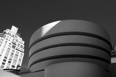 NYC Monochrome Wall Art Prints Black /& White Architecture Home Decor Art Museum New York Guggenheim Interior American Art