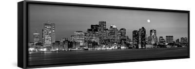 Black and White Skyline at Night, Boston, Massachusetts, USA