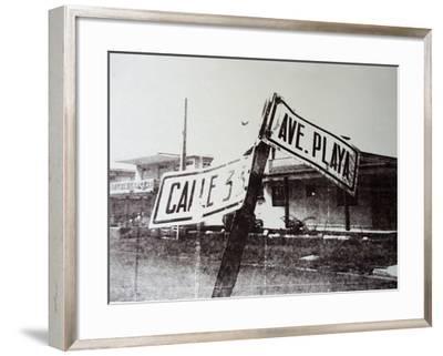 Black and White Street Sign-David Studwell-Framed Giclee Print