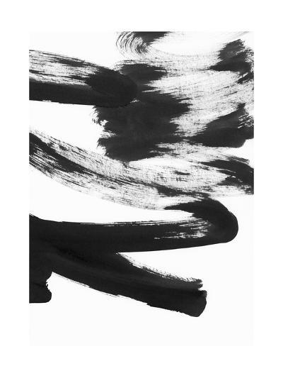 Black and White Strokes 5-Iris Lehnhardt-Art Print