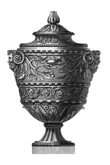 Black And White Urn Ii Art Print By Art