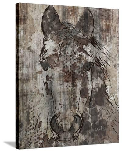 Black Angel--Stretched Canvas Print