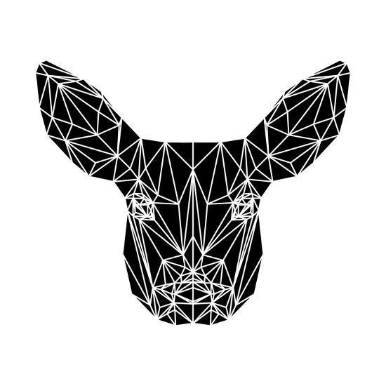 Black Baby Deer-Lisa Kroll-Art Print