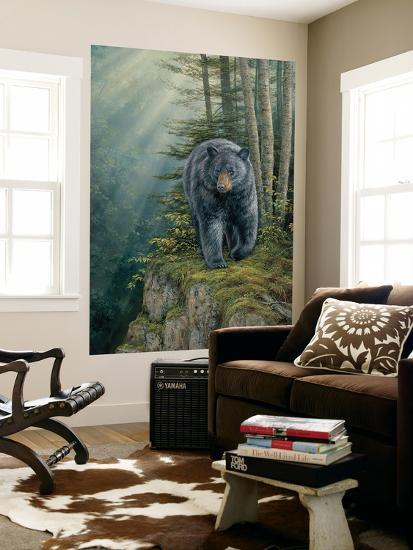 Black Bear (Indoor/Outdoor) Vinyl Wall Mural--Wall Mural